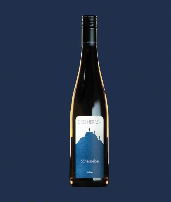 Flasche Drei Herren Wein Sorte Scheurebe