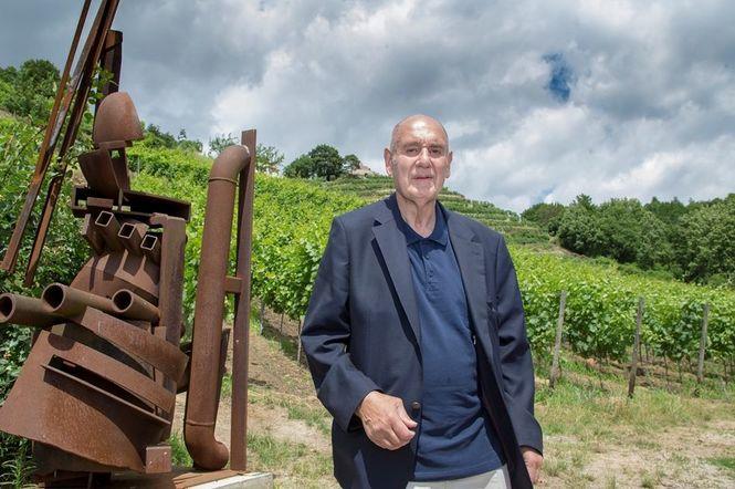 Kunstprofessor Rainer Beck Inhaber des Weinguts Drei Herren